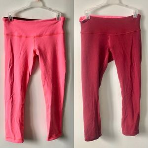 Lululemon Wunder Under Crop III / Pink/Burgundy